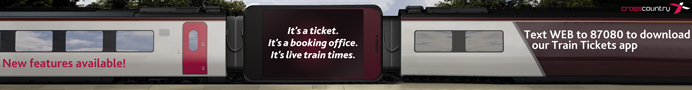 Text WEB to 87080 to download our Train Tickets app